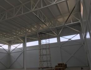 Вид сверху на строительство