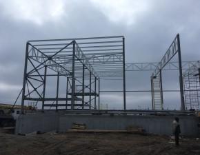 Первоначальный этап строительства склада