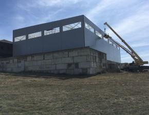 Крепление панелей склада