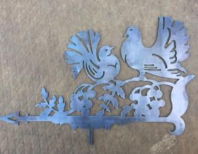 Флюгер металлический  птицы